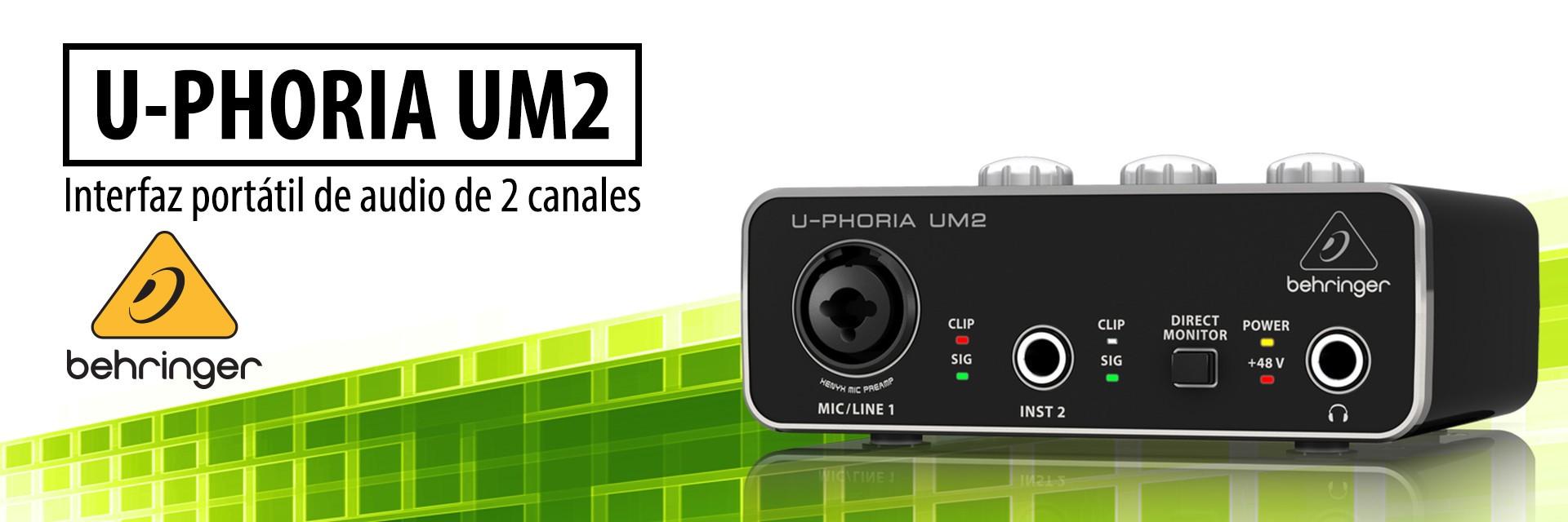 U-PHORIA UM2 - Interfaz portátil de audio de 2 canales