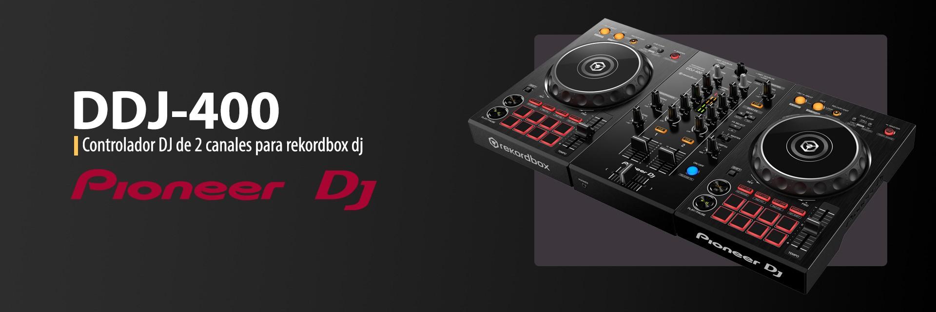 Controlador DJ de 2 canales para rekordbox dj Pioneer DJ DDJ-400