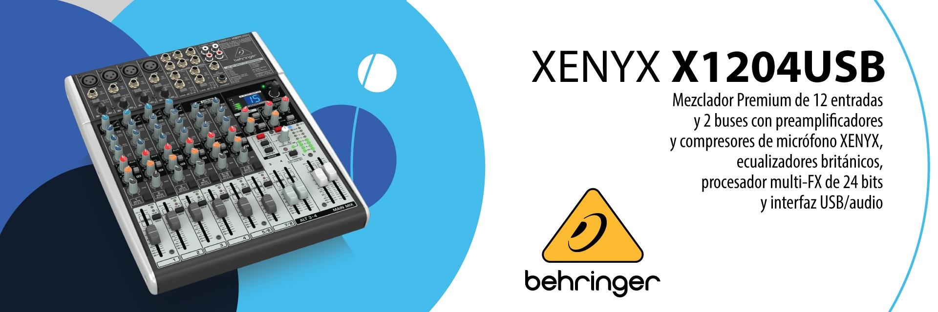 XENYX X1204USB - Mezclador Premium de 12 entradas BEHRINGER