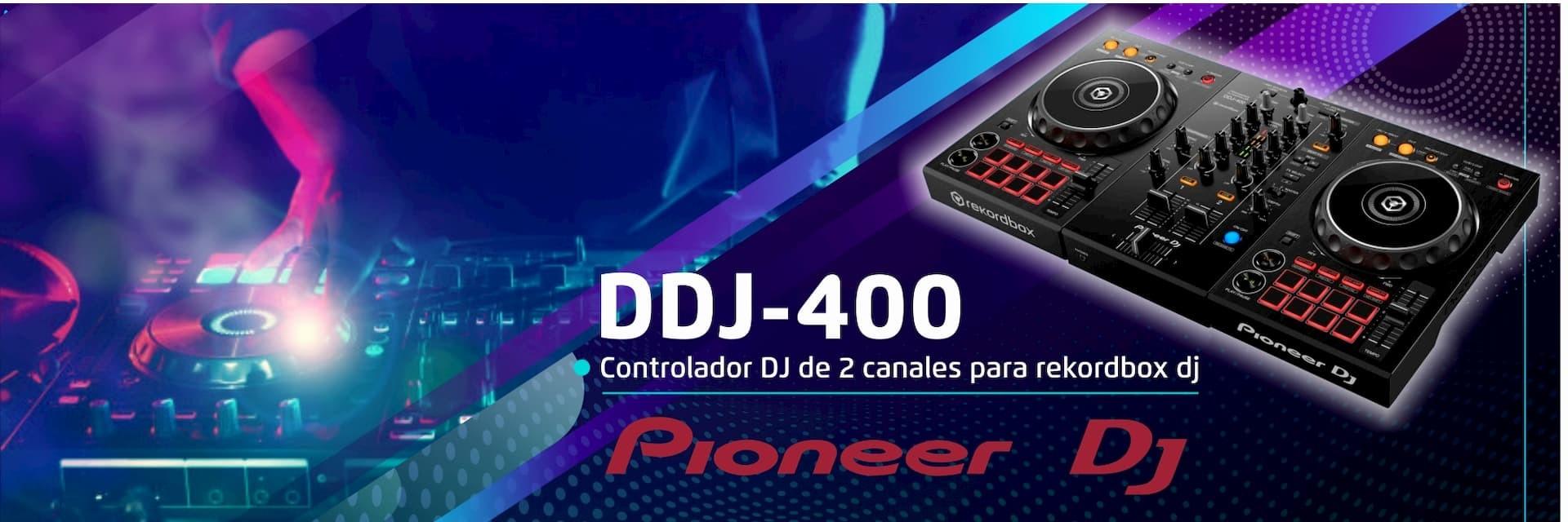 Controlador DJ de 2 canales para rekordbox dj
