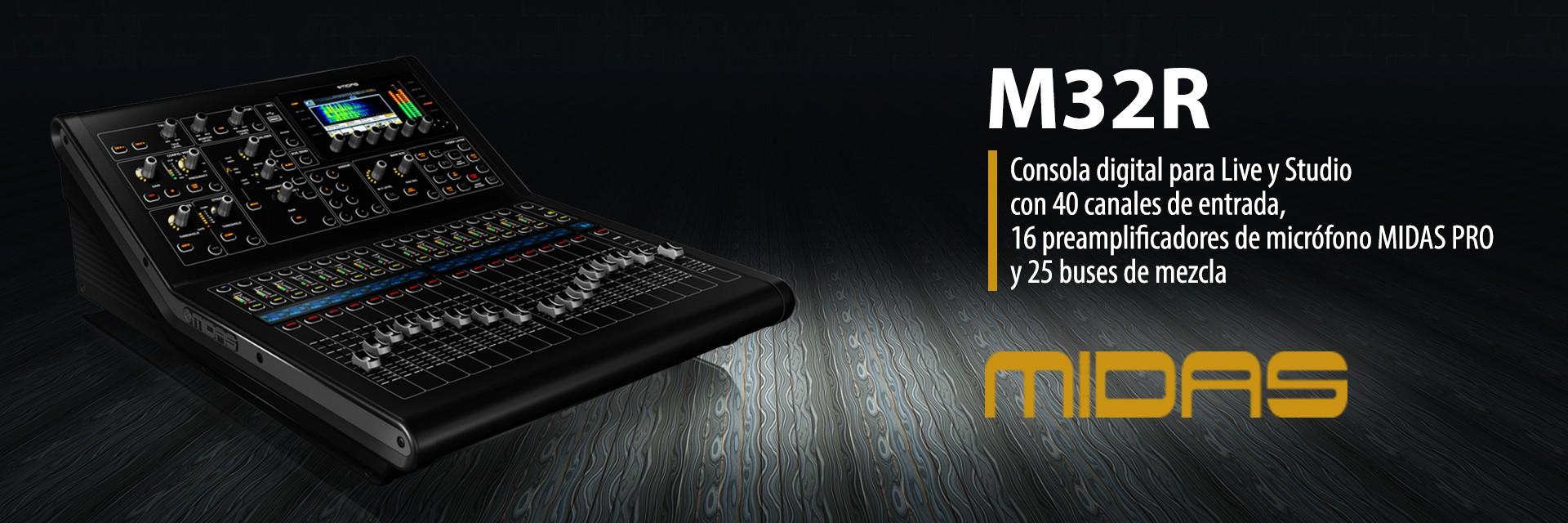 Consola digital para Live y Studio MIDAS M32R